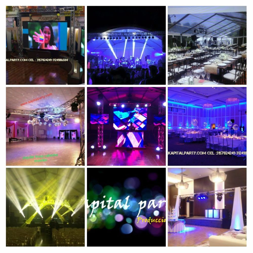 ALQUILER SONIDO LUCES LED NEON CARPAS HANGARES MINITECA  TARIMA BINGO TRUSS PANTALLA LED VIDEO WALL